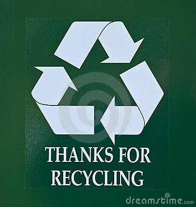 Thanks for recycling sign