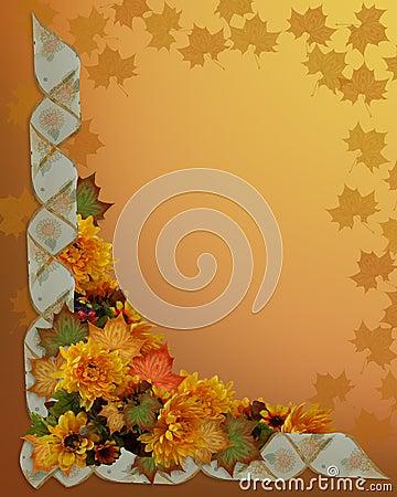 Thanksgiving Autumn Fall Border Stock Photography - Image ...