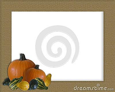 Thanksgiving Autumn Fall Frame Burlap