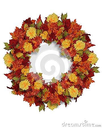 Thanksgiving Autumn Flowers wreath