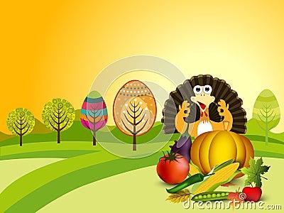 Thanksgiving background. EPS 10.