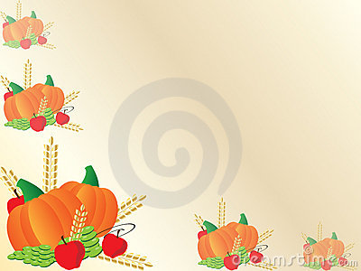 Thanksgiving background frame with pumpkins