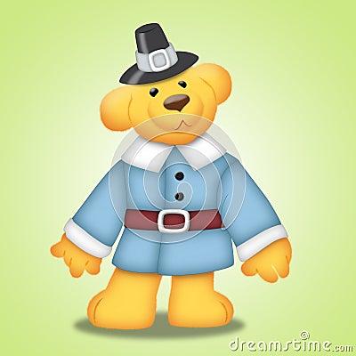 Free Thanksgiving Bear Stock Photo - 16744150