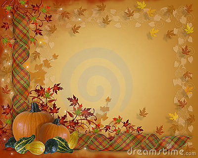 Thanksgiving Border Autumn Fall leaves