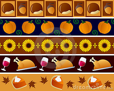 Thanksgiving Borders Set