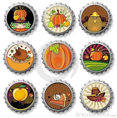 Free Thanksgiving Bottle Caps Stock Image - 11206141