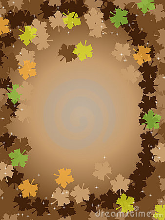 Thanksgiving brown background frame leafs