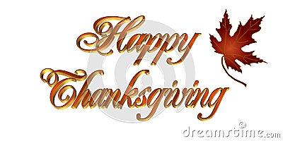Thanksgiving card 3D text