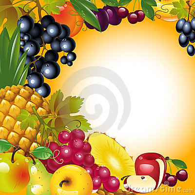 Thanksgiving card. fruit background.