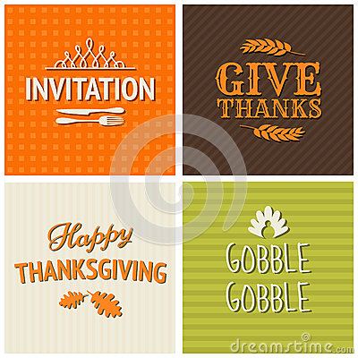 Free Thanksgiving Cards Collection Royalty Free Stock Images - 33572929