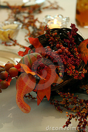 Free Thanksgiving Centerpiece Royalty Free Stock Photography - 3917577