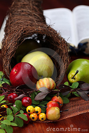 Thanksgiving Cornucopia and the Bible