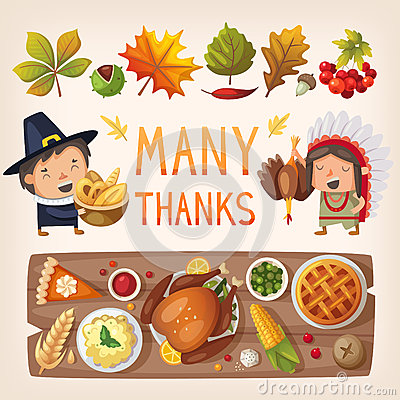 Free Thanksgiving Day Card Elements Royalty Free Stock Photography - 62240117