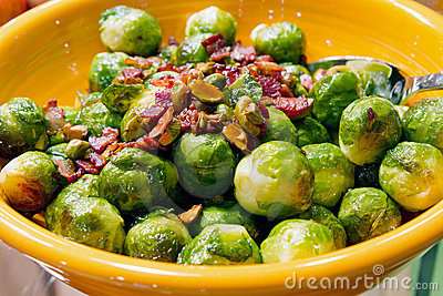 Thanksgiving Day Dinner Brussels Sprout Bacon