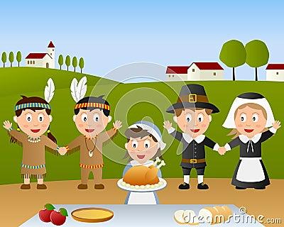Thanksgiving Day Dinner Scene