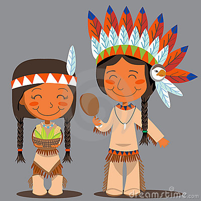 Thanksgiving Day Native American Couple