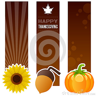 Thanksgiving Day Vertical Banners