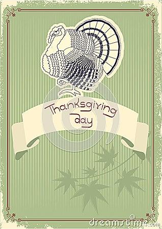 Thanksgiving decoration postcard.Vintage