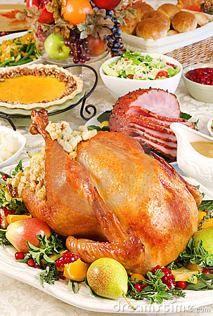 Free Thanksgiving Dinner Royalty Free Stock Photos - 3440118