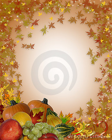 Free Thanksgiving Fall Border Stock Image - 6682621