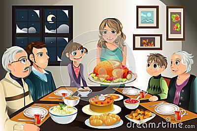 Family Meal Clip Art