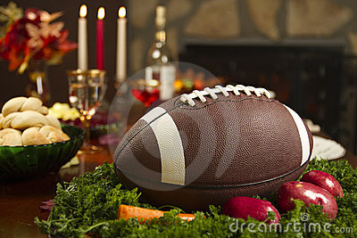 Thanksgiving Football Pigskin Turkey Dinner