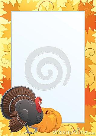 Free Thanksgiving Frame Royalty Free Stock Photos - 59957488