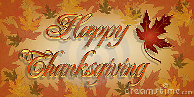 Thanksgiving  Greeting card 3D text