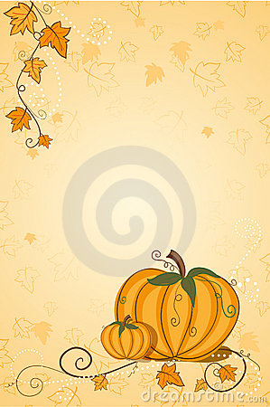 Thanksgiving greeting card - pumpkin