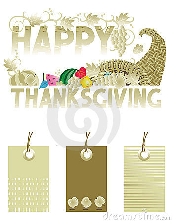Thanksgiving greeting and tags