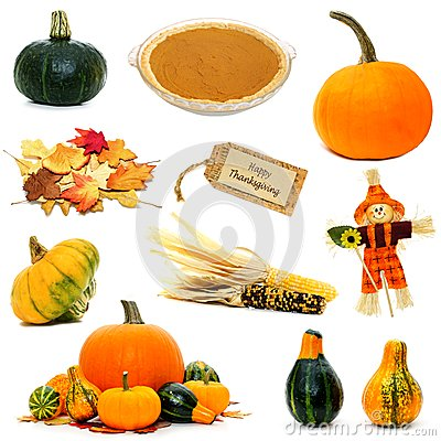 Free Thanksgiving Items Isolated Royalty Free Stock Image - 45142506