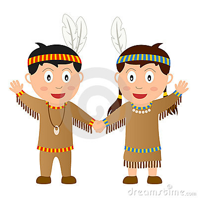 Free Thanksgiving Native Kids Royalty Free Stock Photo - 16548005