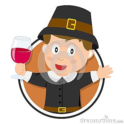 Thanksgiving Pilgrim Boy Logo