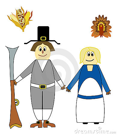 Thanksgiving pilgrims cartoons