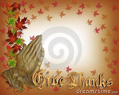 Thanksgiving Praying hands
