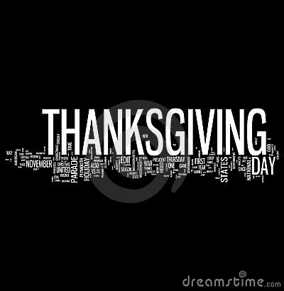 Thanksgiving Related Words Cloud Stock Image - Image: 10987201