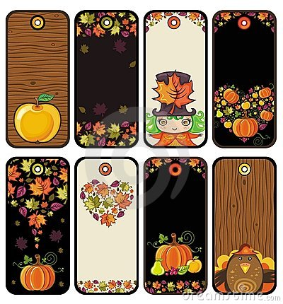 Thanksgiving set of tags i
