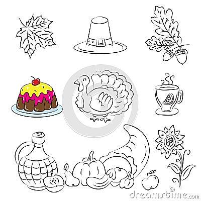 Thanksgiving Sketch Set