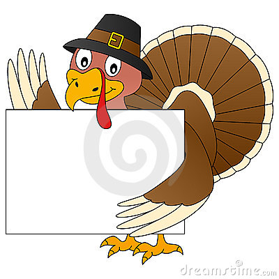 Thanksgiving Turkey and Banner