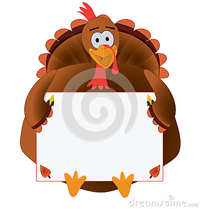 Thanksgiving Turkey with copyspace Stock Photo