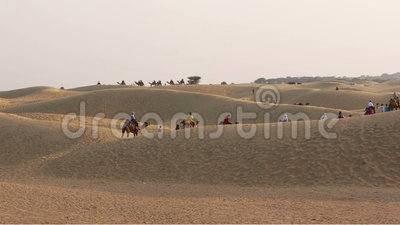 Thar-Wüste stock footage