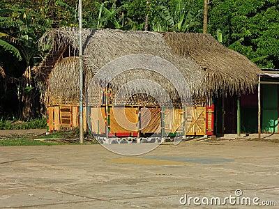 Thatch roof restaurant bar Corn Island Nicaragua