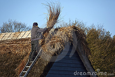 Thatching - Thatched Roof - England Editorial Photography
