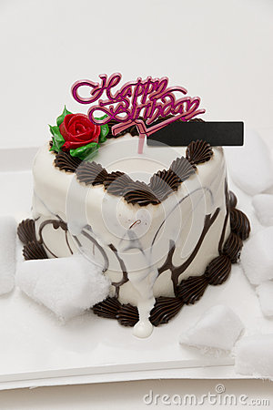 Thawing birthday ice cream cake