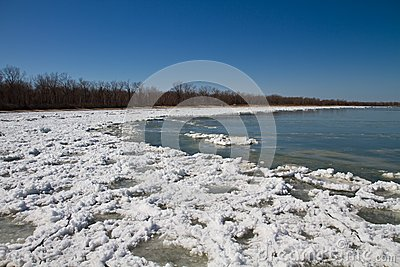 Thawing shore