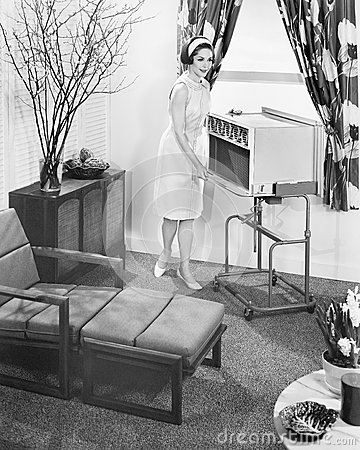 Free The 1963 General Electric Porta-cart Air Conditioner Stock Photos - 51996603