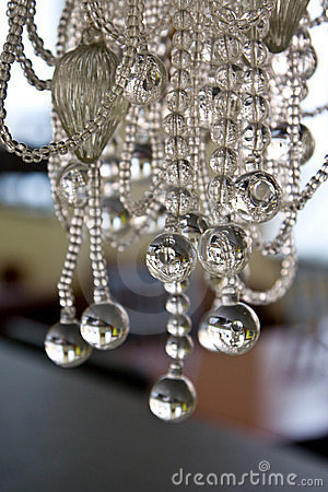 Free The Abstract Sample Of Glass Balls On A Thread  Stock Photos - 4608723