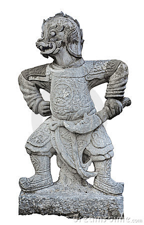 Free The Ancient Chinese Warrior Statues. Royalty Free Stock Photos - 23799038