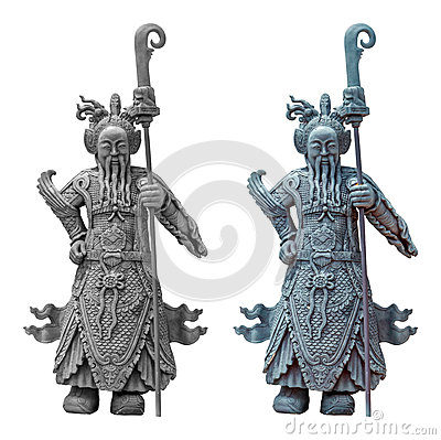 Free The Ancient Chinese Warrior Statues Royalty Free Stock Photography - 56414877