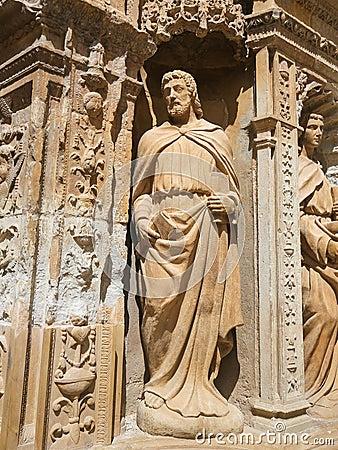 Free The Apostle Saint Matthias At The Saint Thomas Church Of Haro, L Stock Photo - 79598700